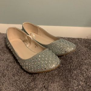 Sparkly flats. Worn once.